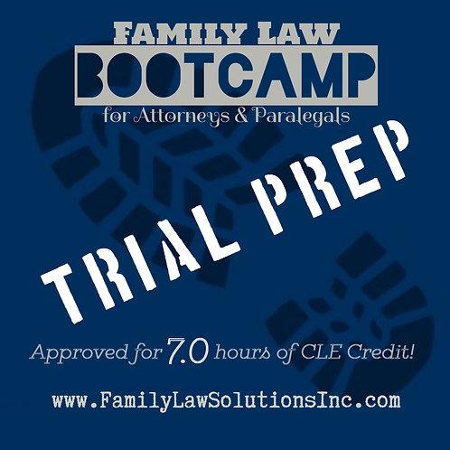 Intern Training:  Trial Prep Bootcamp