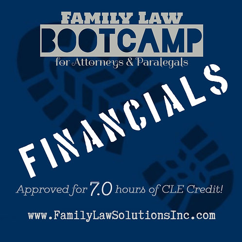 Discounted Admission: Financials Bootcamp