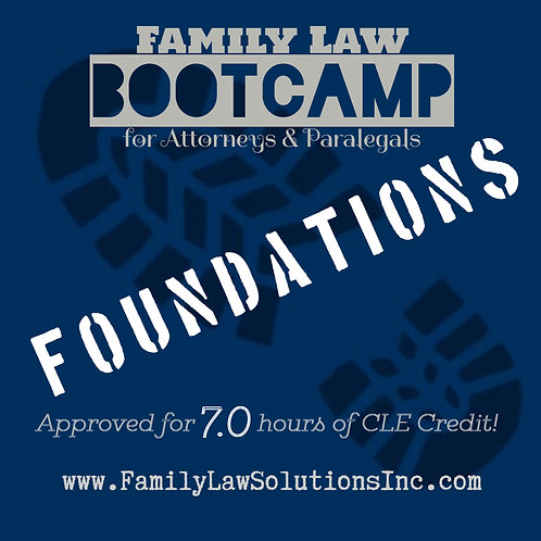 Intern Training:  Family Law Foundations  Bootcamp