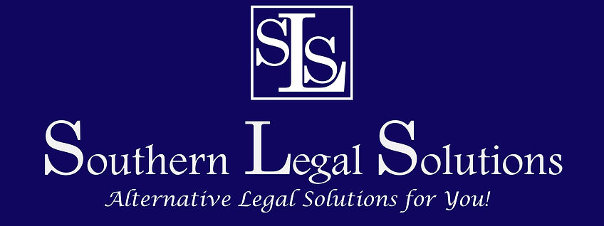 Southern Legal Solutions - back sign 3x8
