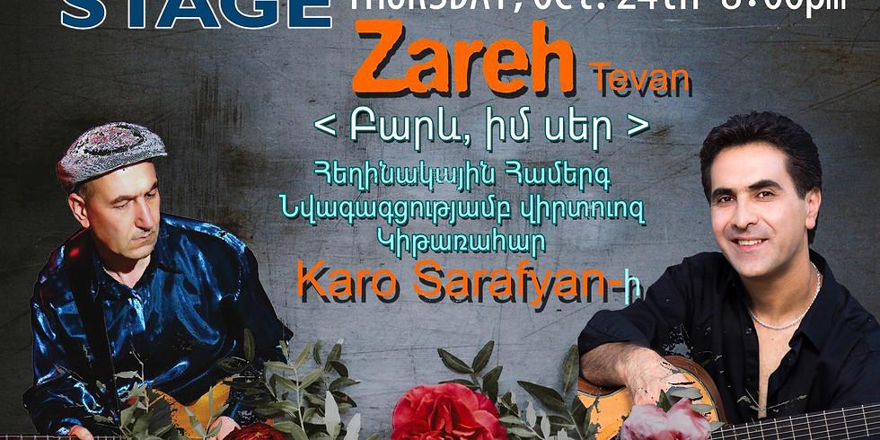 Singer Songwriter ZAREH with Guitar Virtuous KARO SARAFYAN