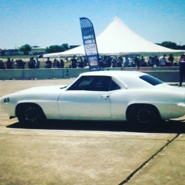 69 Camaro doing the business 220mph , full paddle shift #liferacing #coolgearsforcoolcars using the