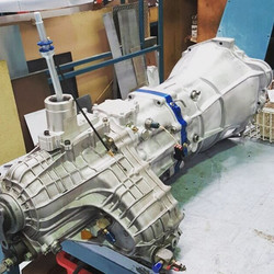 The new #ppg R32 GT-R getting installed for some testing . This is a unique 6 speed system in the st