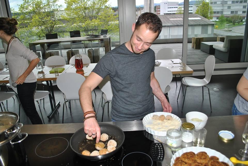 voller Einsatz in der Küche