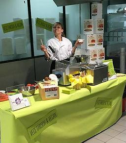 Produktedemonstration und Degustation für die Gastronomie
