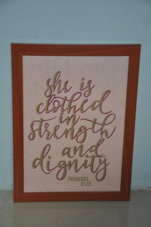 A4 Print - Proverbs 31:25