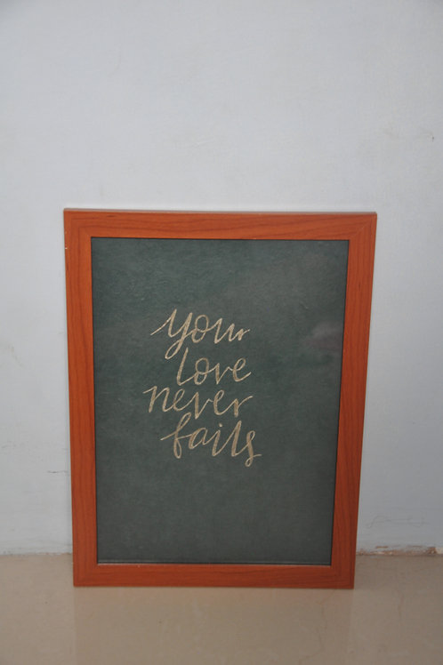 A4 Print - Your love never fails