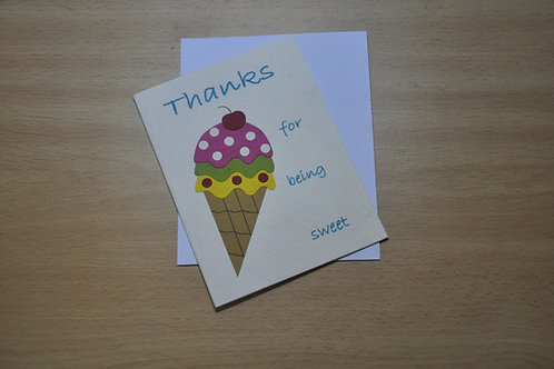 Card - Thanks for being so sweet