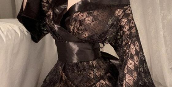 黒和服 透け透け