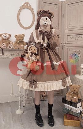 ロリータ Lolita クマ コスプレ ワンピース 長袖 ベア 可愛い レディース
