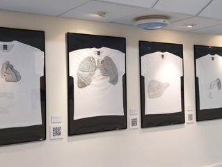 Embroidered t-shirts get people thinking about organ donation