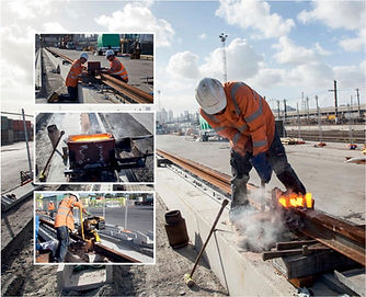 Welding Crane Rail Groove Rail Light Rail Tram Train Welding Aluminothermic Services
