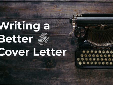 Writing a Better Cover Letter