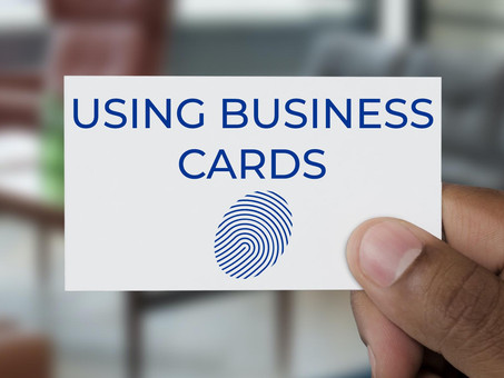 Using Business Cards