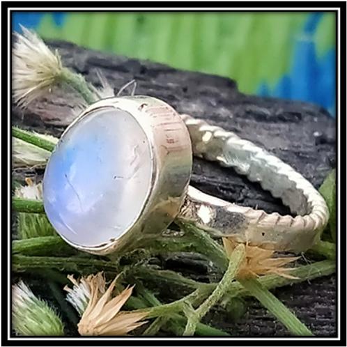 Natural Moonstone, 925 Sterling Silver Handmade Ring
