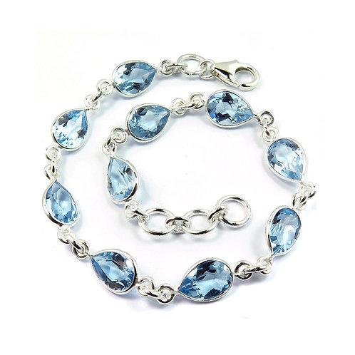 Natural Blue Topaz Bracelet