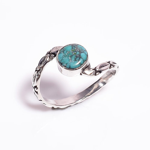 Turquoise Gemstone in Handcrafted 925 Sterling Silver Ring