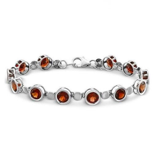 925 Sterling Silver Bracelet Garnet