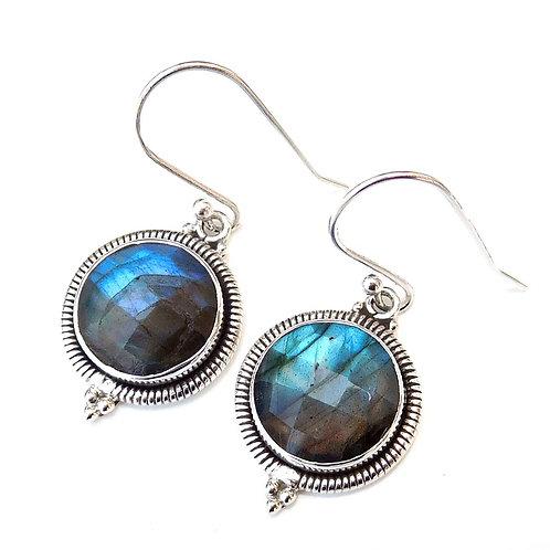 925 Sterling Silver Labradorite Earrings