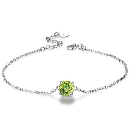 925 Sterling Silver Bracelet Peridot