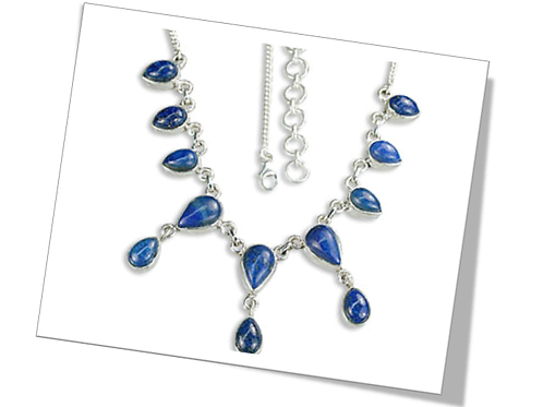 Sterling Silver Necklace with Topaz