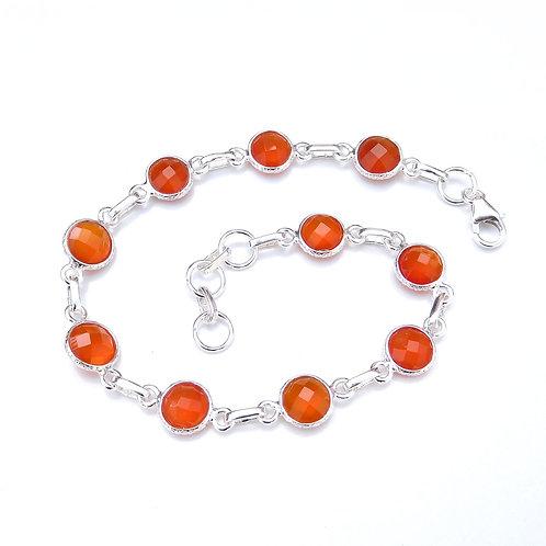 925 Sterling Silver Bezel Set Bracelet Briolette Gemstone Handmade Bracelet