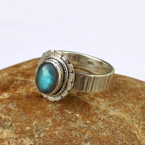 Labradorite Ring, 925 Sterling Silver Labradorite Gemstone