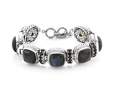 925 Sterling Silver Bracelet Labradorite