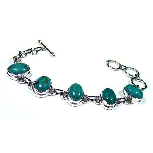 925 Sterling Silver Chrysocolla Bracelet