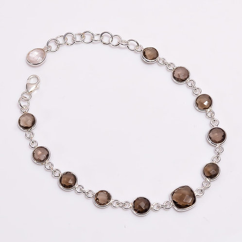 925 Sterling Silver Bracelet with Gemstone