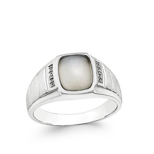 Sterling Silver Ring Artistic Silver Moonstone Ring