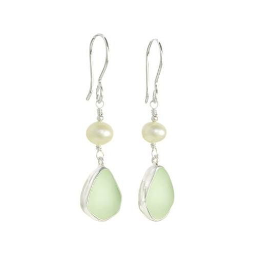 Pure 925 Sterling Silver Earrings Jade Gemstone