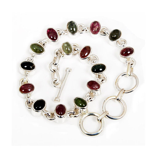 Tourmaline Bracelet Made in Sterling Silver