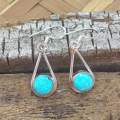 Turquoise Earrings Dangle Earrings, 925 Sterling Silver, Blue Earring