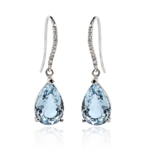 London Sapphire in Pure 925 Sterling Silver Earrings
