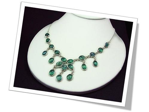 Necklace Sterling Silver Malachite