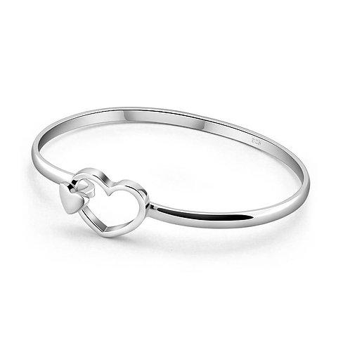 925 Sterling Silver Ring Loving Heart