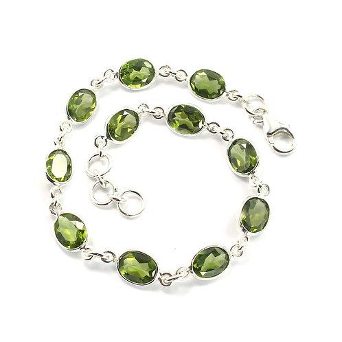 Peridot in Sterling Silver Bracelet