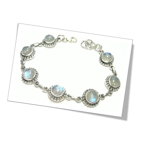 925 Sterling Silver Bracelet with Moonstone