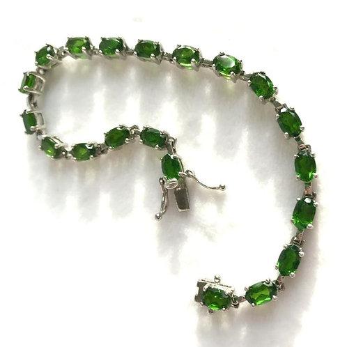 925 Sterling Silver Bracelet Green Aventurine