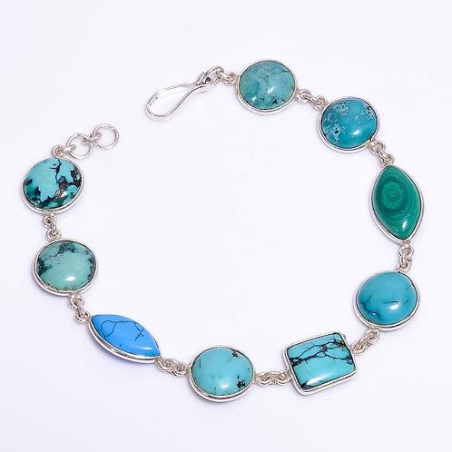 925 Sterling Silver Bracelet with Gemstone
