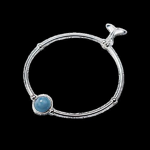 Fishtail Sky Blue Natural Aquamarine Bracelet