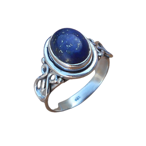 925 Sterling Silver Ring/ Blue Lapis /Artistic Silver Rings