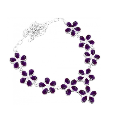 Pure 925 Sterling Silver Necklace / Artistic Silver Amethyst