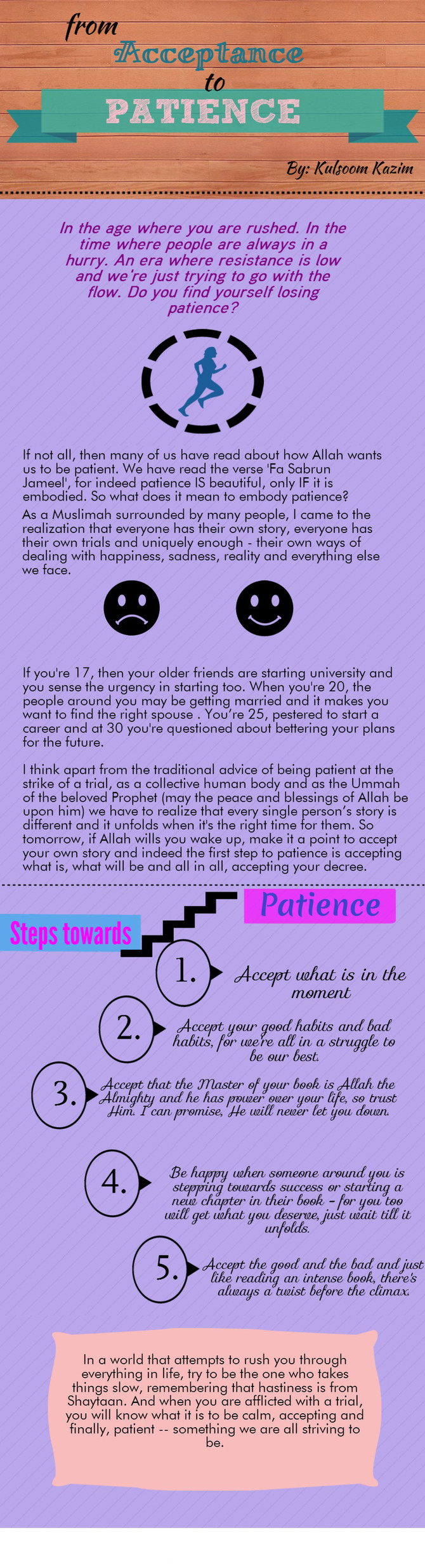 From Acceptance to Patience
