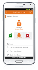 Monitor your home secuity system with your cell phone