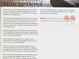 healthy living article, Changing Perceptions