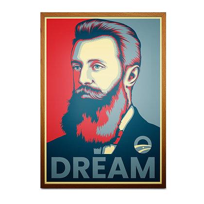Theodor Herzl 'DREAM' Print