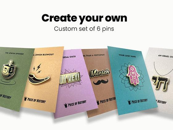 Custom set of 6 pins