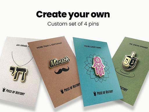 Custom set of 4 pins